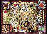 OSDFN Puzzle 1000 Teile Kartenspiel Impossible Puzzle Farbenfrohes Legespiel
