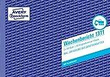 AVERY Zweckform 1311 Wochenbericht (A5 quer, mit 2 Blatt Blaupapier, von Rechtsexperten geprüft,...