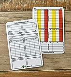 My Referee Schiedsrichter Spielnotizkarten Fussball 100 Stück Neue Generation gemäß DFBnet