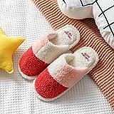 XZDNYDHGX Memory Foam Plüsch Pantoffeln,Frauen Hausschuhe Indoor Pelzrutschen, Plüsch Schuhe aus...