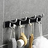 QQDL Haken Sie hinter der Tür Wandhaken Kleiderhaken Türhängeleiste Platz sparen Geringes Gewicht...