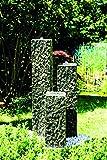 Köhko Springbrunnen 'Lilienstein' Höhe ca. 40 cm Gartenbrunnen aus Polyresin in Natursteinoptik...