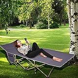 Houssem Feldbett Klappbar Campingbett mit Seitentasche und mit Transporttasche, Stabile Komfortabel...