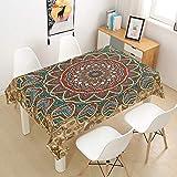 Morbuy Mandala Tischdecke Abwaschbar Tischtuch Rechteckig Tischwäsche Gartentischdecke Outdoor...