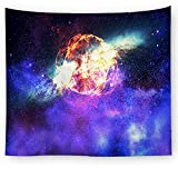 OTIAN Galaxy Starry Tapestry Universe Bedruckte Tagesdecke Aus Polyester Mit Wandbehang