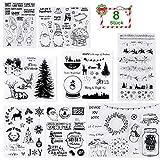 GIANOLUC 8 Stück DIY TPR Klar Stempel Set für Blatt Scrapbooking Album Foto DIY Weihnachten