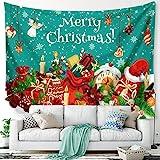 WBTY 150 x 200 cm Weihnachtsbaum Tapisserie Weihnachtsmann Hintergrund Tuch Multifunktionale...