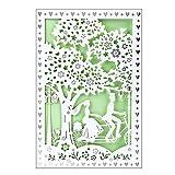 Hochzeitskarte | 12 cm x 18 cm | Mit farbigem Einleger & Umschlag | Grußkarte für Hochzeit |...