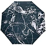 Sternbilder Winddichte Regenschirme Auto Open Close 3 Faltbarer Sonnenschirm-E25-0W