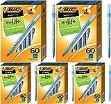 BIC Stic Xtra Life Kugelschreiber, runde Spitze, 1,0 mm, Blau, 60 Stück – 5 Stück
