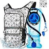Mothybot Wanderrucksack mit 2 l Wasserblase, Trinkrucksack für Männer und Frauen, mit 5 Taschen,...