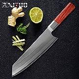 Damastmesser 8-Zoll-Kochmesser 7 Schichtverbunds Stahl Professionelle japanische Küchenmesser...