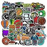 BLOUR 50 PCS Skateboard Modemarke Logo Wasserdichter Aufkleber für Gepäckwagen Guaitar Skateboard...