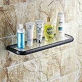 Badezimmer-Toilette Doppel-Glas-Zahnputzbecher mit Halter Wandhalterung Öl gerieben...