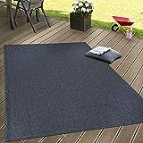 Paco Home In- & Outdoor Flachgewebe Teppich Terrassen Teppiche Natürlicher Look Navy Blau,...