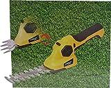 Akku Gras und Strauchschere mit LED Ladestatus Anzeige - Cordless Grass & Shrub Shear (3,6 V Li-Ion,...