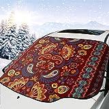 Nahtloses Muster Braun Orange Blau Auto Schnee Abdeckung Frost Sonne Windschutzscheibe Wasserdicht...