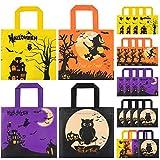 HOTSAN Halloween Süßigkeit Taschen Behandelt Taschen - 24 Stück wasserdichte Kinder Halloween...