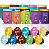 Gourmesso Testbox – 100 Nespresso kompatible Kaffeekapseln – 100 % Fairtrade – 10 verschiedene...