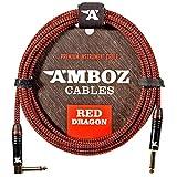 Red Dragon Instrumentenkabel 4.5m rot - Geruschloses Gitarrenkabel fr die Elektrische und...