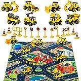 HapeeFun Montage Baufahrzeug Set, LKW Spielzeug, DIY 8 * BAU Bagger Lastwagen Spielzeugautos,...