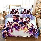 YWEIWEI Bettwsche-Set 3D The Avengers Druck Kind Erwachsene Bettwsche Aus 100% Polyester Geschenk...