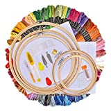 AFDEAL Stickerei Set, Kreuzstich Starter kit, Stickerei Kreuzstich Tool Kit, Einschließlich 100...