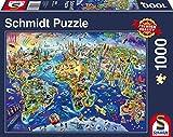 Schmidt Spiele Puzzle 58288 58288-Entdecke Unsere Welt 1000 Teile Puzzle, bunt