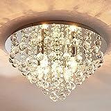 Lindby Kristall Look Deckenleuchte Metall Acryl | Deckenlampe rund 5 flammig | 5x E14 max. 40W |...