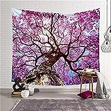 YYRAIN Landschaft Blume Digitaldruck Wandteppich Home Wandkunst Geschenk Wandteppich Bankett...