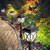 Solarleuchten Garten, 6 Stück LED Warmweiß Solar Gartenleuchte für Außen mit IP44 Wasserdicht,...