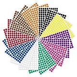 1cm Runde Punktaufkleber Farbkodierung Etiketten Markierungspunkte - 10 Farben, 3000 Stck