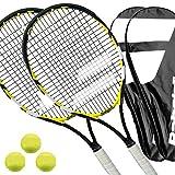 2 x Babolat Reflex - Tennisschlger besaitet L1/L2 + Cover + 3 Blle