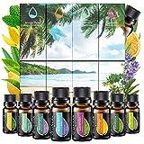 Ätherische Öle Set (8x10ml) - Essential Oil für Aromatherapie - Duftöl für Diffuser - 100% Rein...