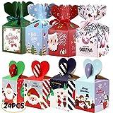 OSUTER 24 Stück Weihnachten Geschenkbox Schachtel Karton Wiederverwendbare Geschenkschachtel...