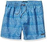 Perry Ellis Herren Scribble Stripe Swim Short Badehose, Pariser Blau, Large