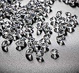 ABSOFINE Deko-Diamanten Farblos Diamantkristalle Transparent Kristall Dekosteine Tischdeko Diamanten...