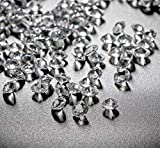 10000Stk Deko-Diamanten 6mm Farblos Absofine Diamantkristalle Transparent Kristall Dekosteine...