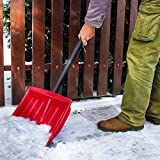 Jago Schneeschaufel (1er/Rot) | mit Alu-Eiskante, inkl. Stiel aus Stahlrohr, in 1er oder 2er, in 3...