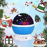 Sternenhimmel Projektor, Sunnest baby Nachtlicht LED 360° Rotierend Projektionslampe Romantische...