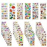 Leenou 3D Aufkleber für Kinder & Kleinkinder, 950+ Geschwollen Stickers für Jungen Mädchen...