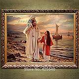 ganlanshu Rahmenloses GemäldeHome-Dekorationsgemälde von Jesus Christ60X90cm