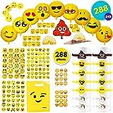 THE TWIDDLERS 288 Emoji Smiley Mitgebsel | Party Geschenktten | Ballons Bndchen Gummibnder...