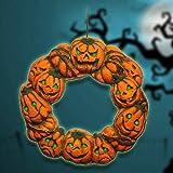 Bureze Halloween-Tür-Aufhänger, gruseliger Kranz, zum Aufhängen