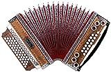Alpenklang 4/III Harmonika'Deluxe' F-B-Es-As Nuss (Steirische Harmonika/Knopfakkordeon,...