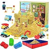 CROSOFMI Magic Sand Für Kinder Set Spielsand Kinetischer Faltbarer Sandkasten für Jungen Mädchen...