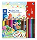 STAEDTLER Noris Colour Buntstift (erhöhte Bruchfestigkeit, Dreikantform, attraktives Design,...