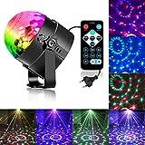 Zacfton Mini LED Lichteffekte Disco Licht Party Licht Bühnenbeleuchtung 3W RGB Sprachaktiviertes...