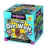 Brain Box 94901 Rund um die Welt, Lernspiel, Quizspiel für Kinder ab 8 Jahren, weiß