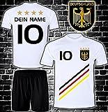 ElevenSports Deutschland Trikot + Hose mit GRATIS Wunschname + Nummer + Wappen Typ #D 2018 im EM/WM...